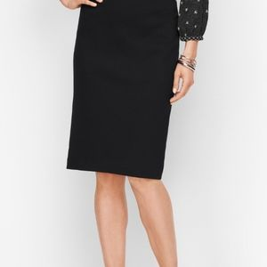 Talbots Black Wool Blend Pencil Skirt Size 4